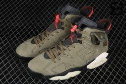 Giày Air Jordan 6 Retro Travis Scott Olive Siêu Cấp