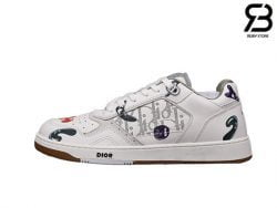 Giày Dior B27 x Kenny Scharf Low-Top White Siêu Cấp