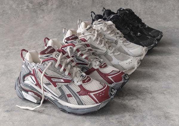 giày Balenciaga Runner 3 màu đỏ, trắng, đen