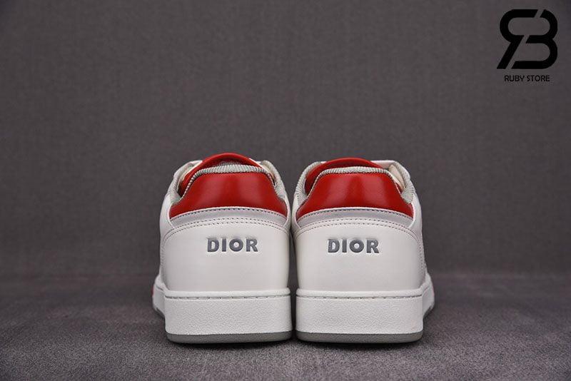 Giày Dior B27 Low-Top White Red Siêu Cấp