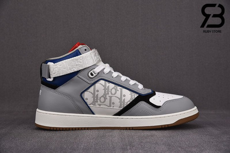 Giày Dior B27 Mid-Top Sneaker Blue, Gray and White Siêu Cấp