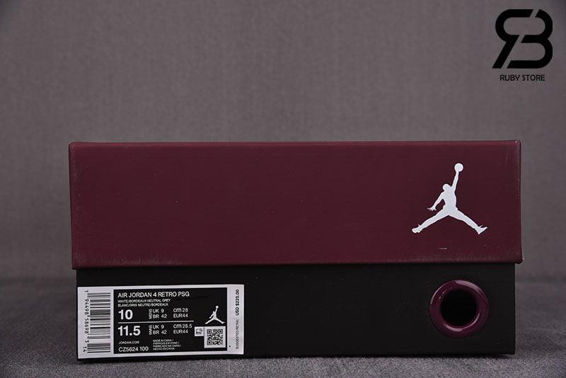 Giày Nike Air Jordan 4 x Paris Saint Germain PSG Siêu Cấp