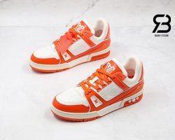 Giày Louis Vuitton Trainer Orange Siêu Cấp