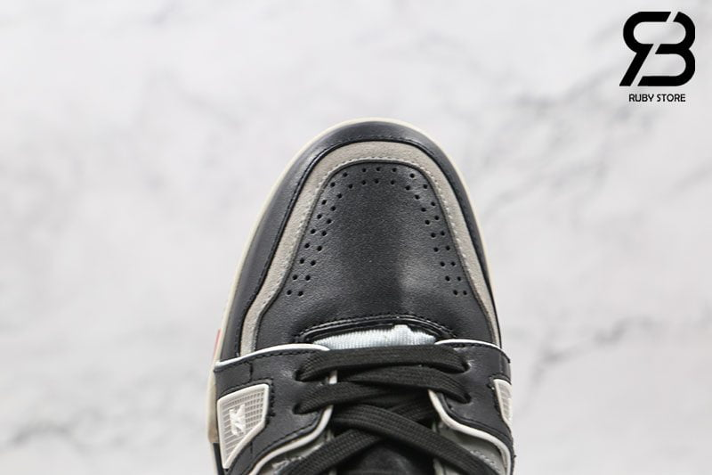 Giày Louis Vuitton Trainer Sneaker Low Black Grey Siêu Cấp
