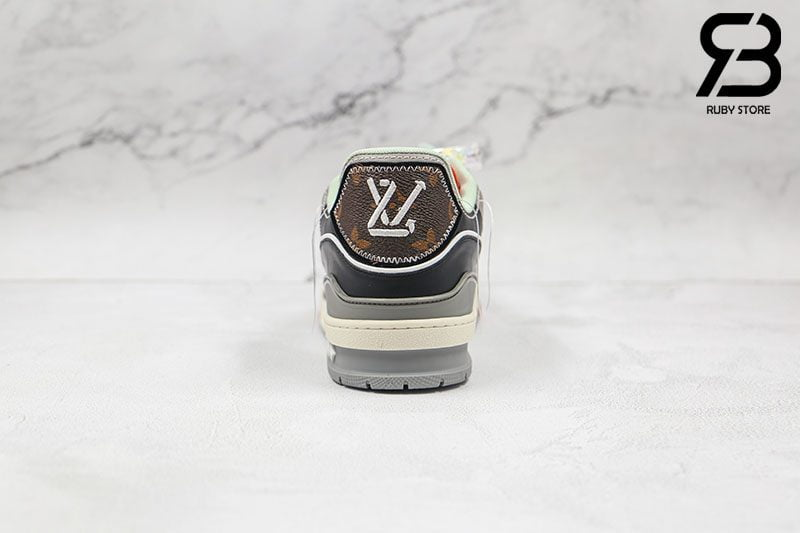 Giày Louis Vuitton Trainer Blue SS21 Siêu Cấp