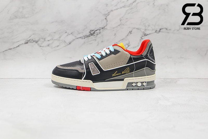 Giày Louis Vuitton Trainer Red SS21 Siêu Cấp