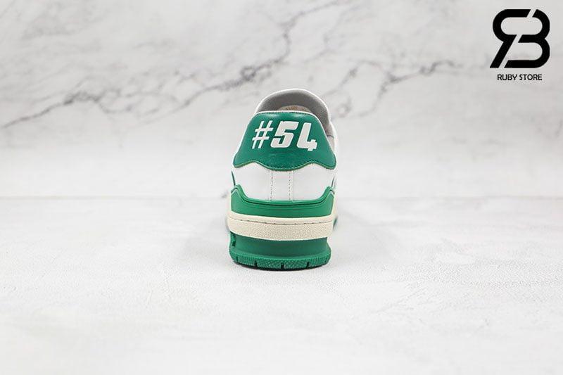 Giày Louis Vuitton Trainer Low White Green Siêu Cấp