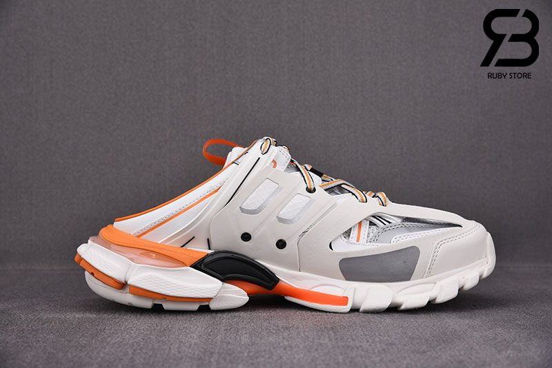 Giày Lười Balenciaga Track Mule Màu Cam Siêu Cấp