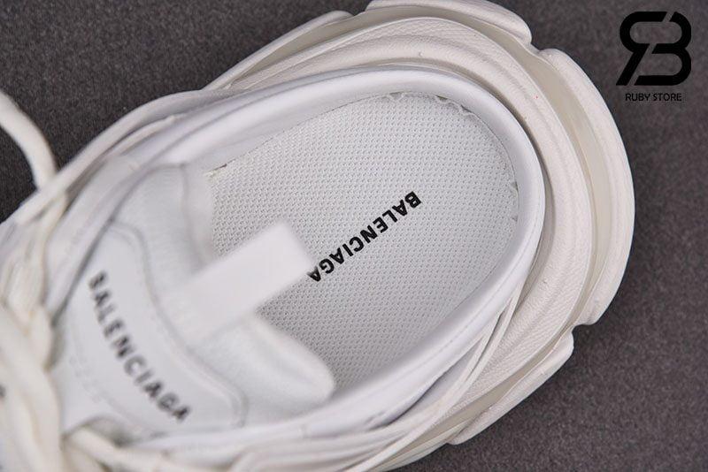 Giày Lười Balenciaga Track Mule Màu Trắng Siêu Cấp