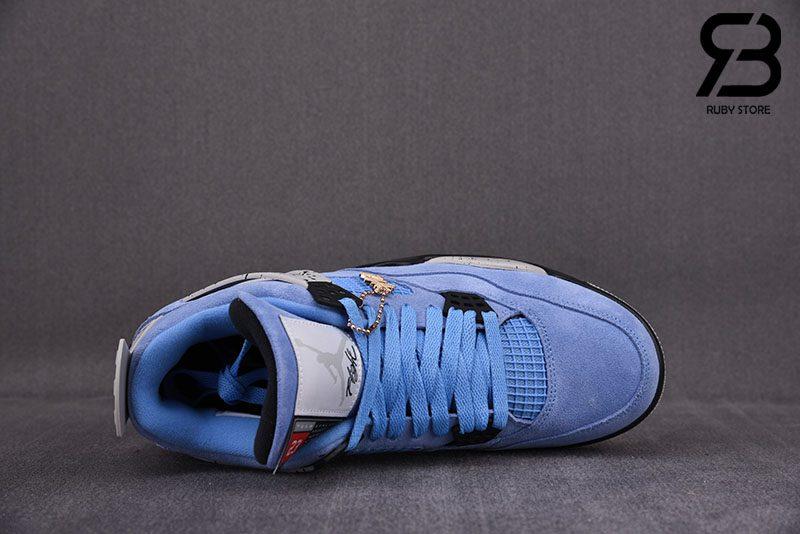Giày Nike Air Jordan 4 Retro University Blue Siêu Cấp