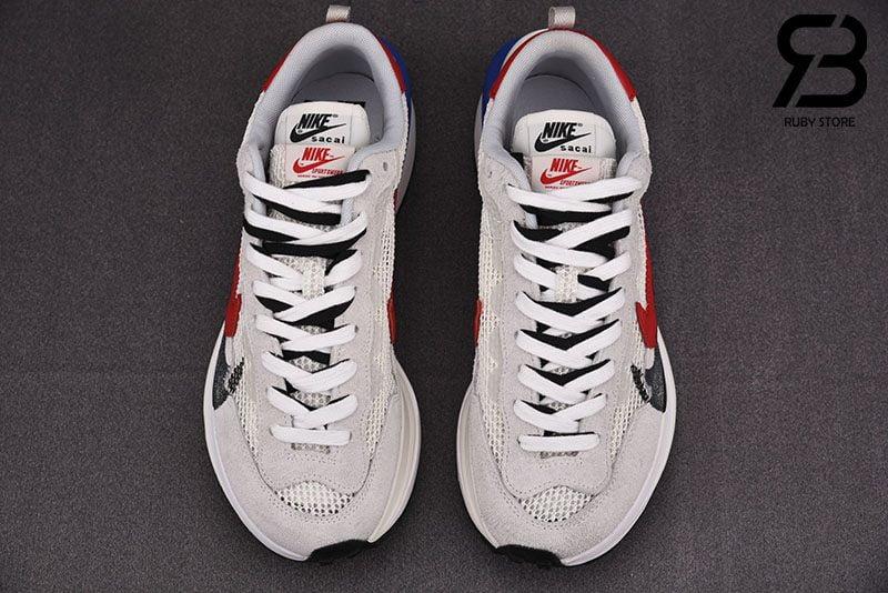 Giày Nike Sacai Vaporwaffle Sport Fuchsia Game Royal Siêu Cấp