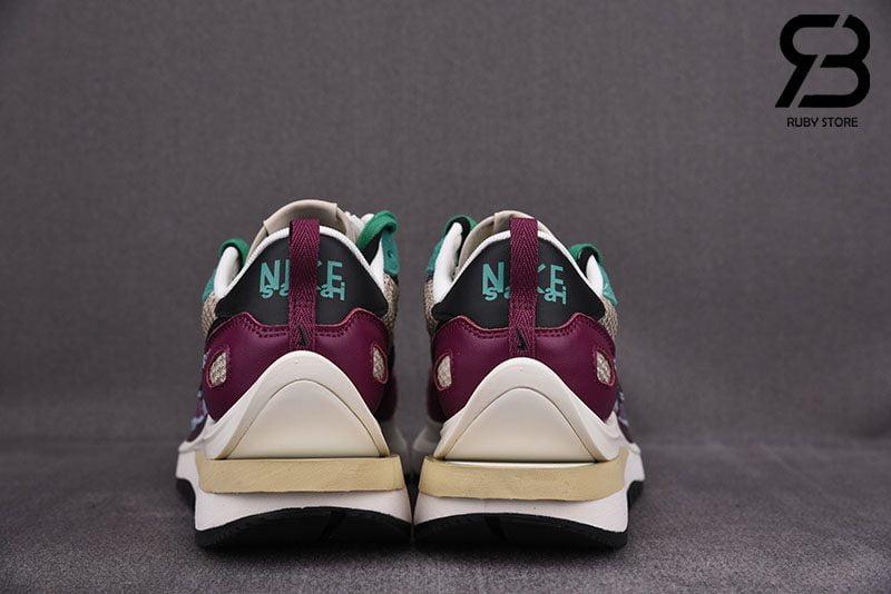 Giày Nike Sacai Vaporwaffle Villain Red Neptune Green Siêu Cấp