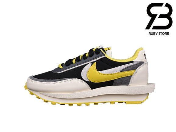 Giày Undercover x Sacai x Nike LDWaffle Black Yellow Siêu Cấp