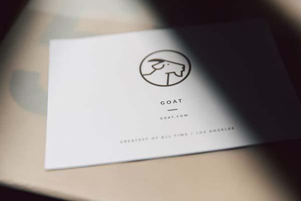 Sản phẩm nhận được sẽ có thẻ tag logo GOAT