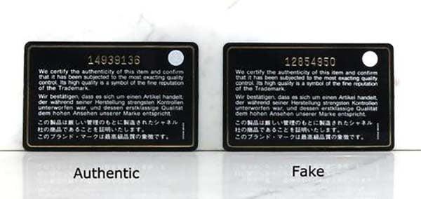 Thẻ số seri của túi Chanel
