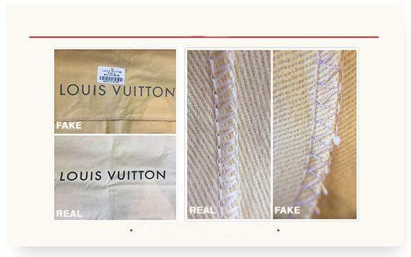 phân biệt túi Louis Vuitton auth và fake qua túi bụi