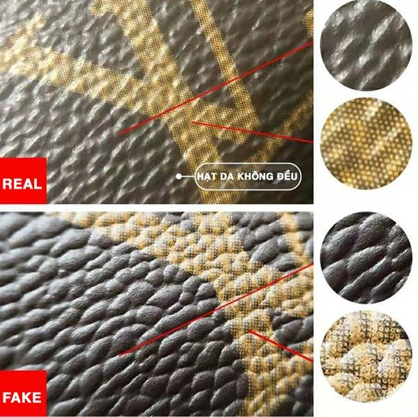 phân biệt túi Louis Vuitton auth và fake qua da