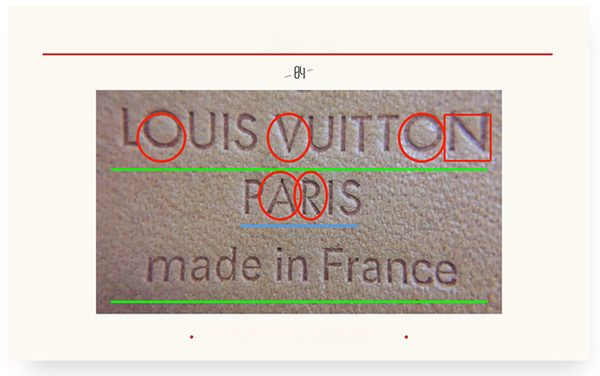 phân biệt túi Louis Vuitton auth và fake qua dập nổi nhãn da