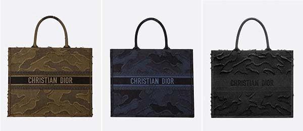 Túi tote vải thêu ngụy trang (Camouflage Embroidery)
