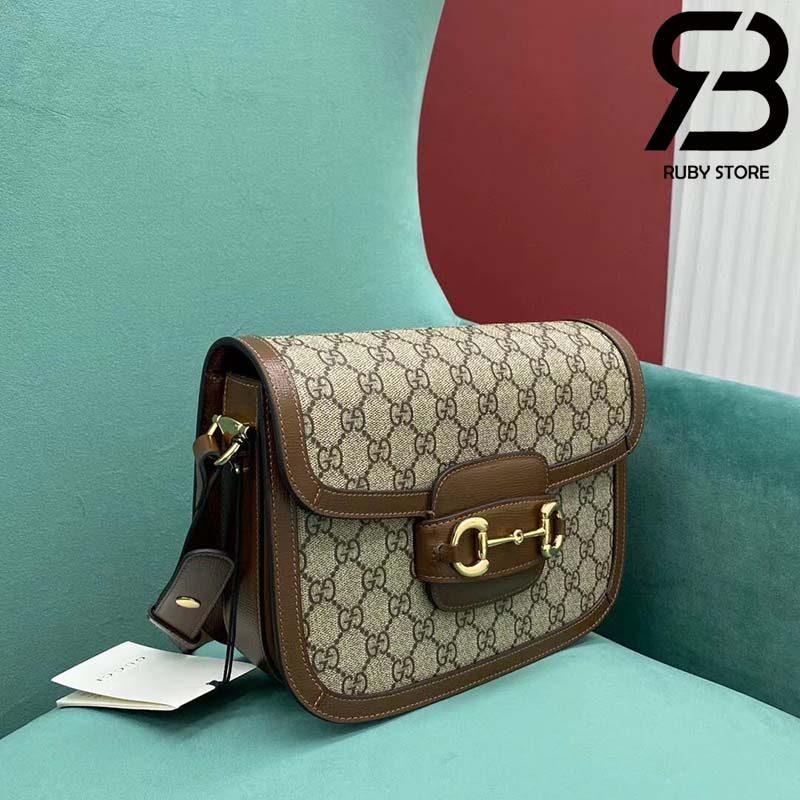 Túi Gucci Horsebit 1955 mini bag 25cm xám best quality