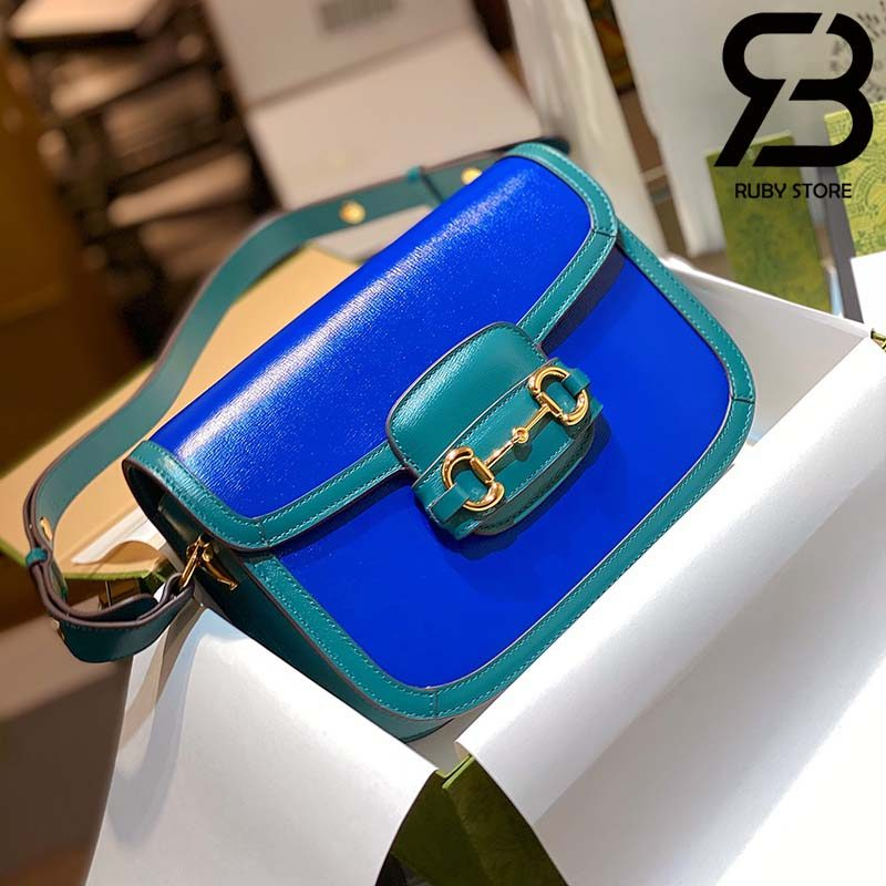 Túi Gucci Horsebit 1955 mini bag 25cm xanh best quality