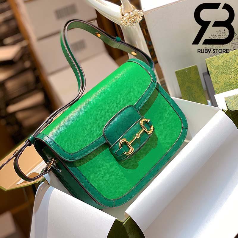 Túi Gucci Horsebit 1955 mini bag 25cm xanh lá best quality