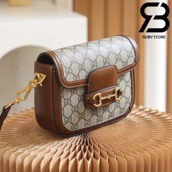 Túi Gucci Horsebit 1955 mini bag 20cm xám best quality