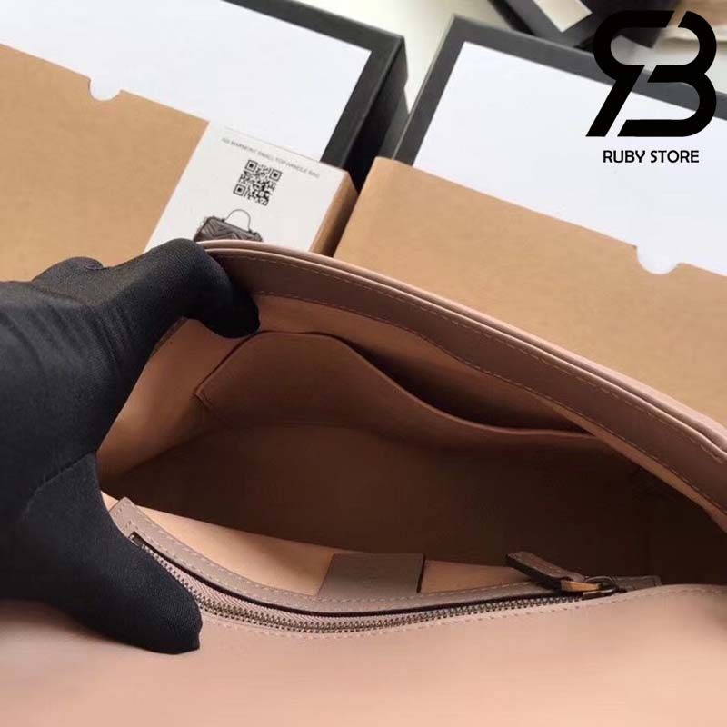 Túi Gucci Marmont small top handle bag đen best quality