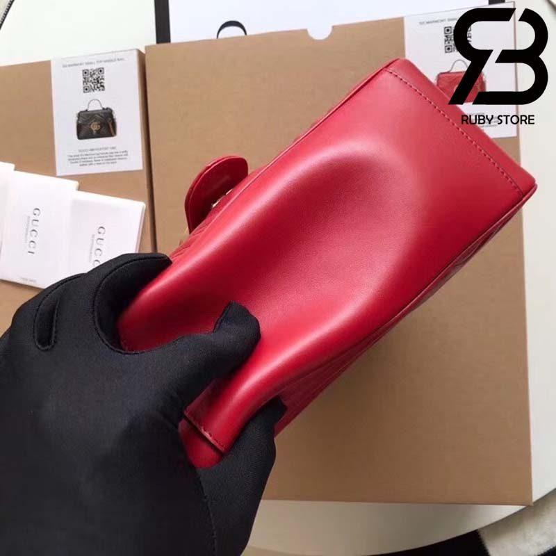 Túi Gucci Marmont small top handle bag đỏ best quality