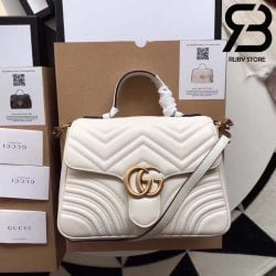Túi Gucci Marmont small top handle bag trắng best quality