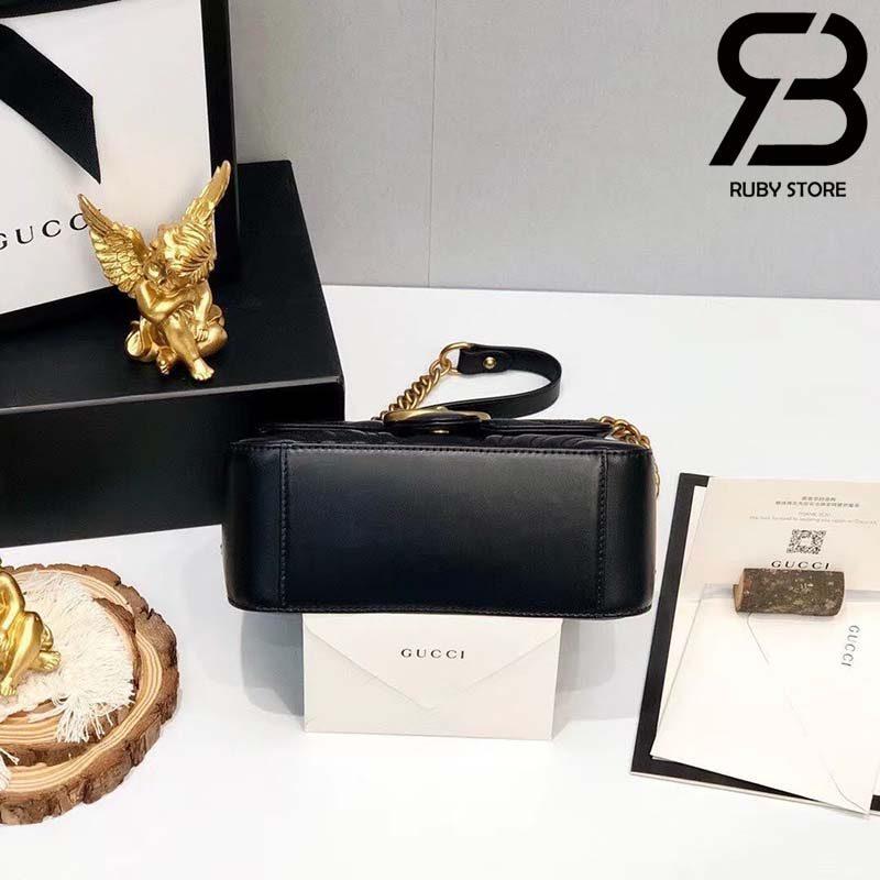 Túi Gucci Marmont mini top handle bag màu đen best quality