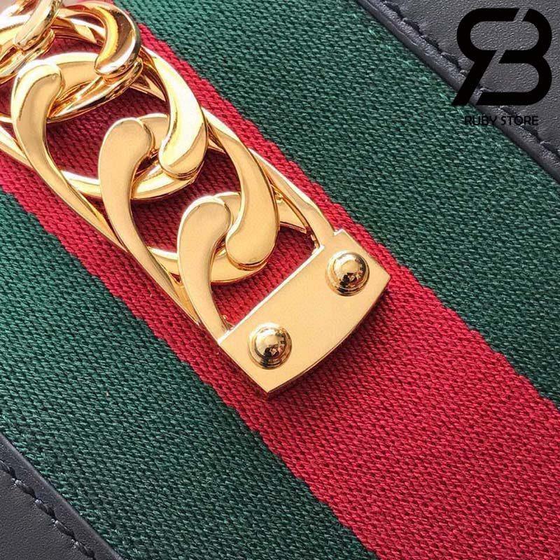 Túi Gucci Sylvie small shoulder bag màu đen best quality