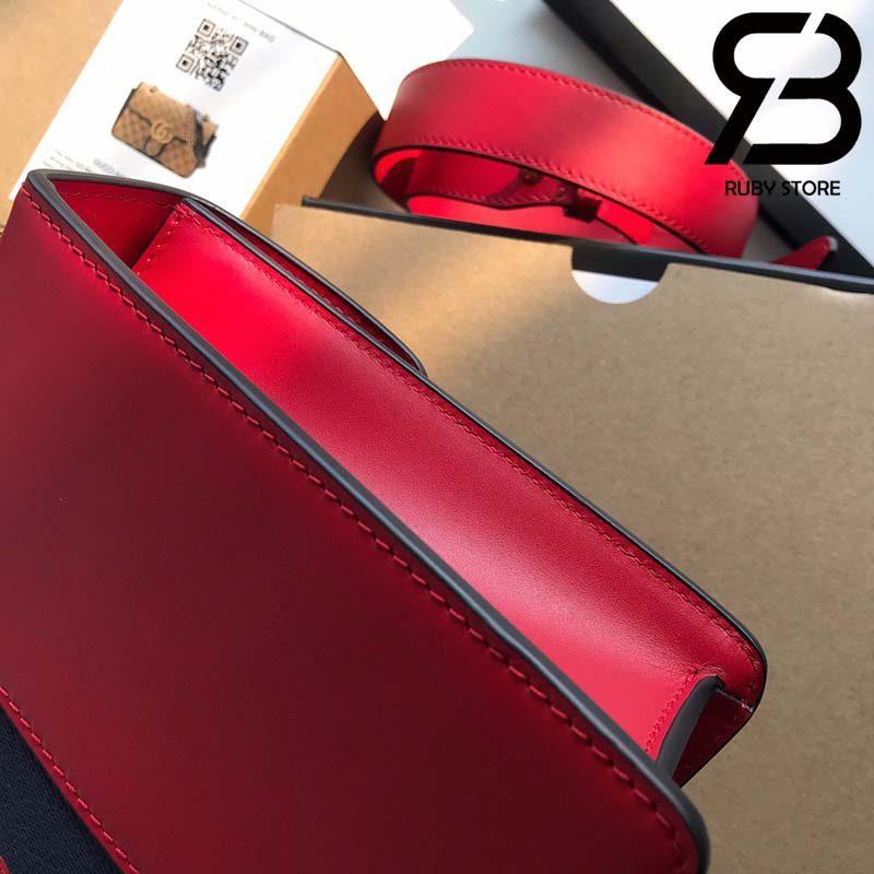 Túi Gucci Sylvie small shoulder bag màu đỏ best quality