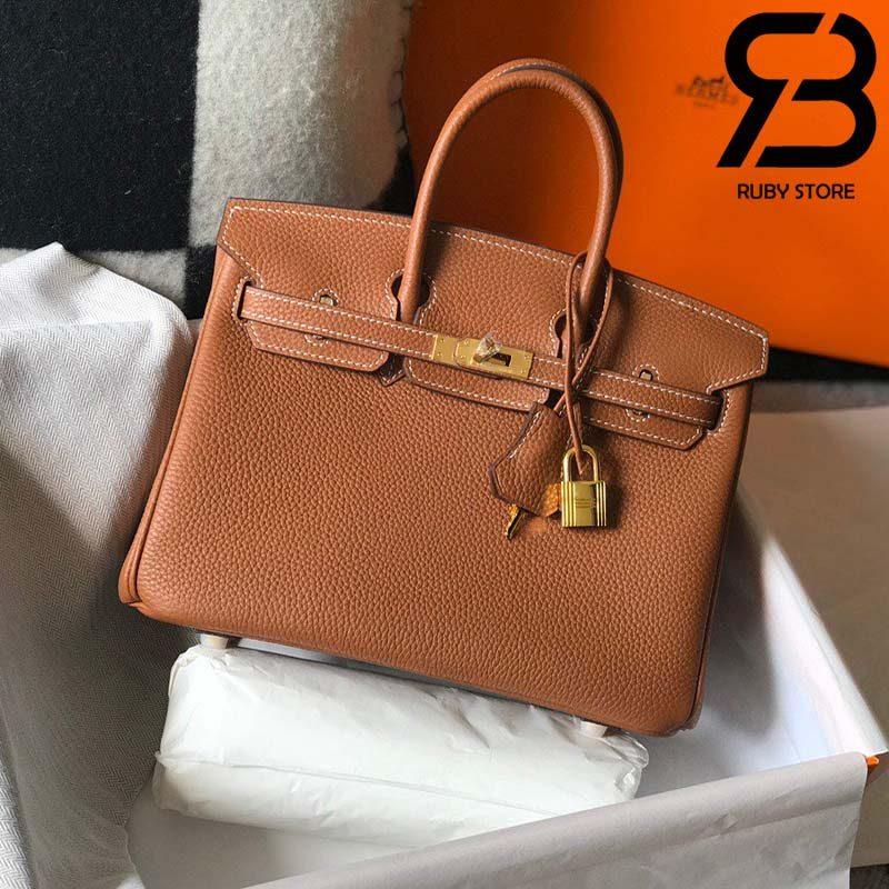 Túi Hermes Birkin Bag 25cm Brown Togo Best Quality 99% Auth