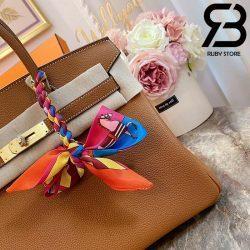 Túi Hermes Birkin Bag 30cm Nâu Khóa Vàng Best Quality 99% Auth