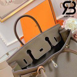 Túi Hermes Birkin Bag 30cm Xám Khóa Bạc Best Quality 99% Auth