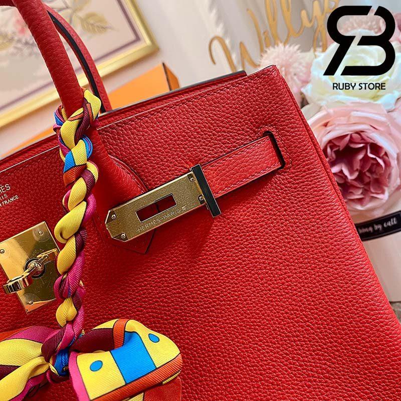 Túi Hermes Birkin Bag 30cm Đỏ Khóa Vàng Best Quality 99% Auth