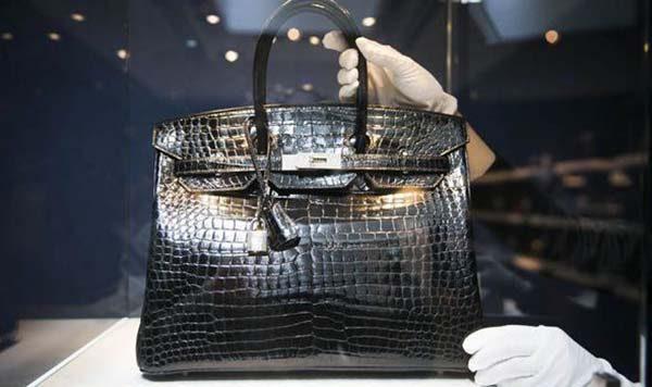 Hermès Blue Crocodile Leather Birkin Bag