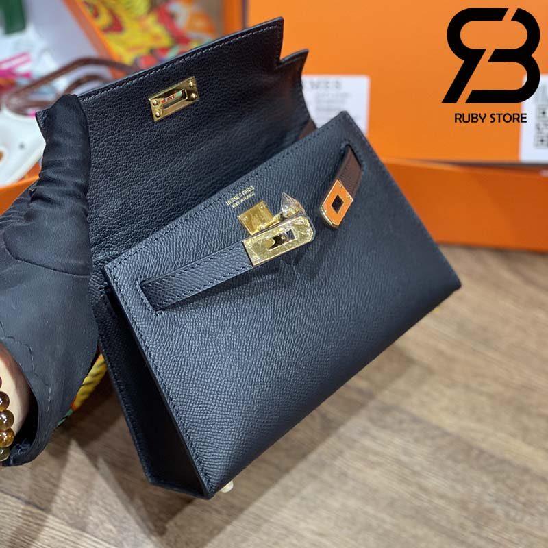 Túi Hermes Kelly Bag Black 19cm Best Quality 99% Auth