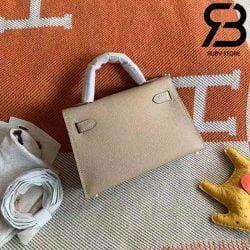 Túi Hermes Kelly Bag Grey 19cm Best Quality 99% Auth