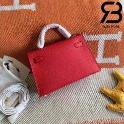 Túi Hermes Kelly Mini Bag Red 19cm Best Quality 99% Auth