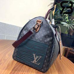 Túi Du Lịch LV Keepall Bandouliere 50 Monogram Black Best Quality 99% Auth