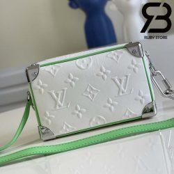 Túi LV Mini Soft Trunk White Green Best Quality 99% Auth