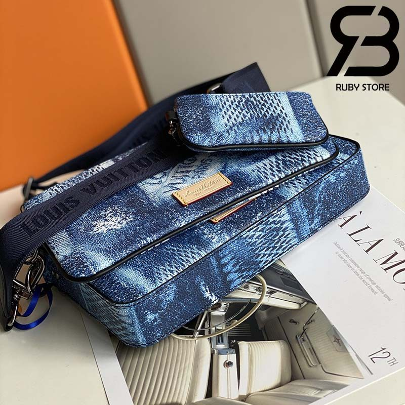 Túi LV Trio Messenger Ocean Blue Best Quality 99% Auth