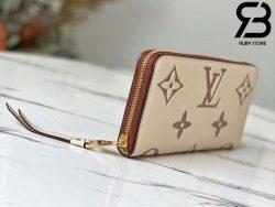 Túi LV Zippy Wallet Cream Hồng Best Quality 99% Auth