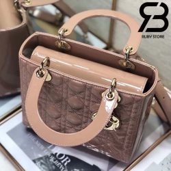 Túi Medium Lady Dior Bag Hồng Bóng Best Quality 99% Auth