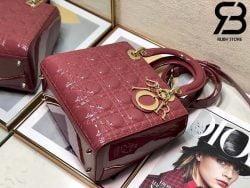 Túi Medium Lady Dior Bag Violet Pink Best Quality 99% Auth