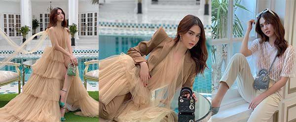 Ngọc Trinh và chiếc túi Micro Lady Dior