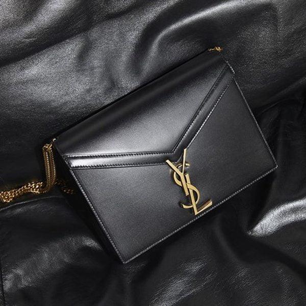 Cassandra Monogram Clasp Bag