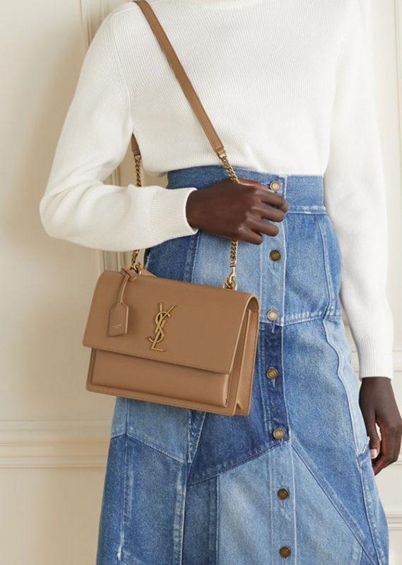 Sunset Leather Medium Shoulder Bag